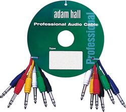 Patchcords Jack - Jack Stereo 6-pack colored, 0,9 meter