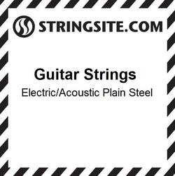 Plain Steel single string - .017 (6 pcs)