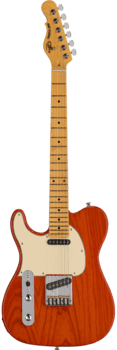 G&L Tribute ASAT Classic Lefty Clear Orange (Tinted Maple Neck)