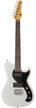 G&L Tribute Fallout Gloss White (Tinted Rosewood Neck)