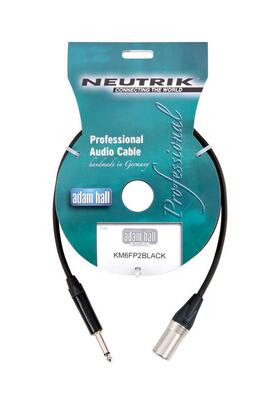 XLR Male - Jack Mono Neutrik Cable high-quality, 6 meter