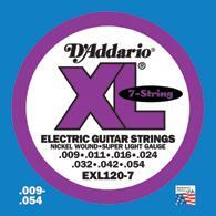 D'addario EXL electric guitar 7 string - 10 set