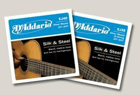 D'addario EJ35 Silk & Steel 12-strengs - 10 set