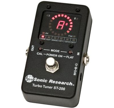 Sonic Research Turbo Tuner ST-200 Stomp Box Strobe Tuner