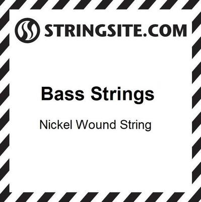 Round wound single Bass string .130 (Medium-scale)
